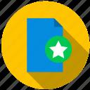content, data, document, favorite, file, information icon