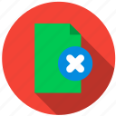 content, data, document, file, information, remove icon