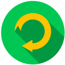 arrow, destination, direction, recycle, repeat, travel icon