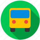 bus, destination, point, school, transportation, travel icon