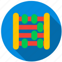 beads, calculator, counter, math, timer, toy icon
