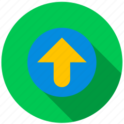 arrow, destination, direction, point, top, travel icon