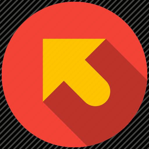 arrow, destination, direction, left, top, travel icon