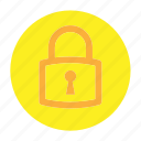 circle, document, file, padlock, security, user interface, web icon