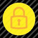 circle, document, file, padlock, security, user interface, web icon