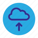 circle, cloud, document, file, upload, user interface, web icon