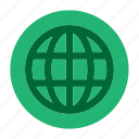 circle, document, file, globe, htlm, web, world icon