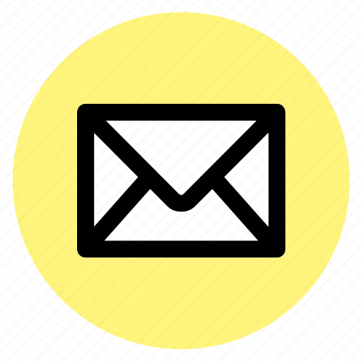 cricle, email, envelope, mail, message, round, user interface icon
