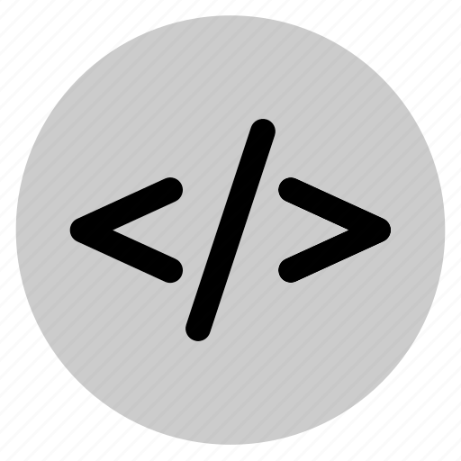 circle, code, coding, cpp, round, user interface, web icon