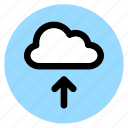 circle, cloud, round, upload, user interface, web icon