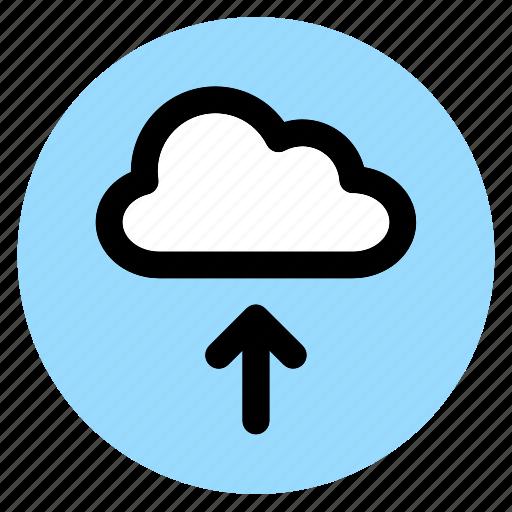 circle, cloud, round, upload, user interface, web icon