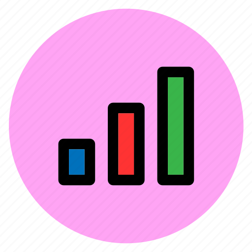 finance, graph, pipe, round, user interface, vertical bar, web icon
