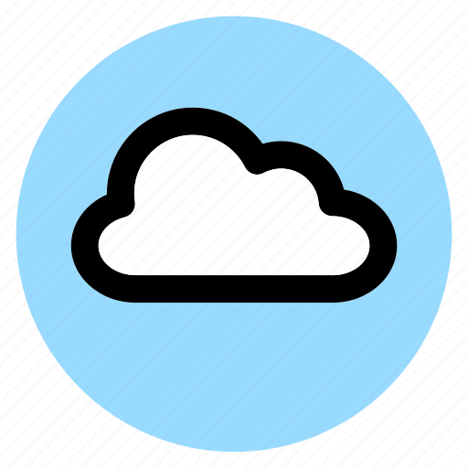circle, cloud, interface, round, user, weather, web icon