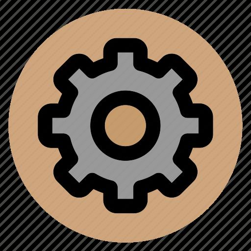circle, cog, cogwheel, gear, settings, user interface, web icon