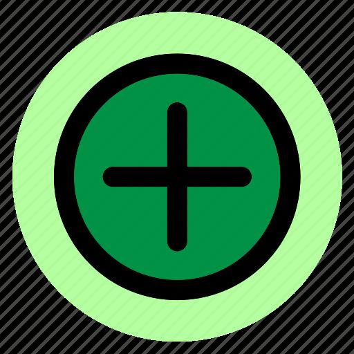 add, circle, plus, round, user interface, web icon