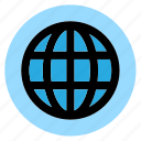 circle, globe, html, round, user interface, web, world icon