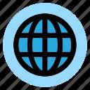 circle, globe, html, round, user interface, web, world icon
