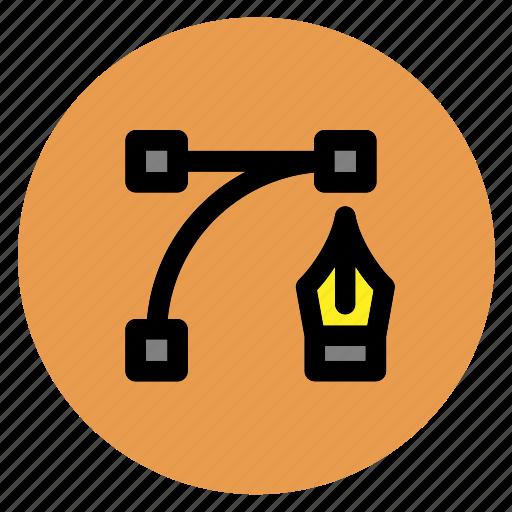 circle, edit, graphic design, pen, round, user interface, web icon