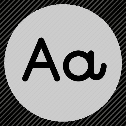 circle, font, round, typo, typography, user interface, web icon