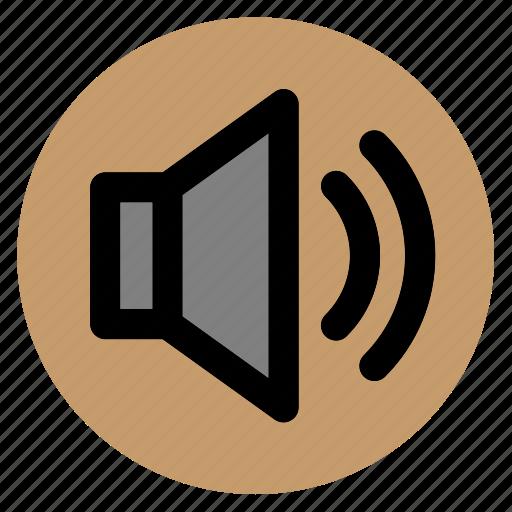audio, circle, round, sound, speaker, user interface, web icon