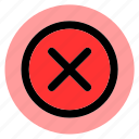 cancel, circle, cross, delete, error, remove, round icon