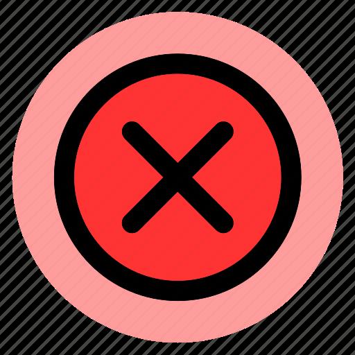cancel, circle, cross, delete, error, remove, round icon