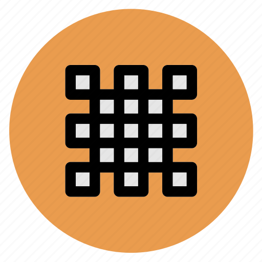 circle, grid, round, user interface, web icon