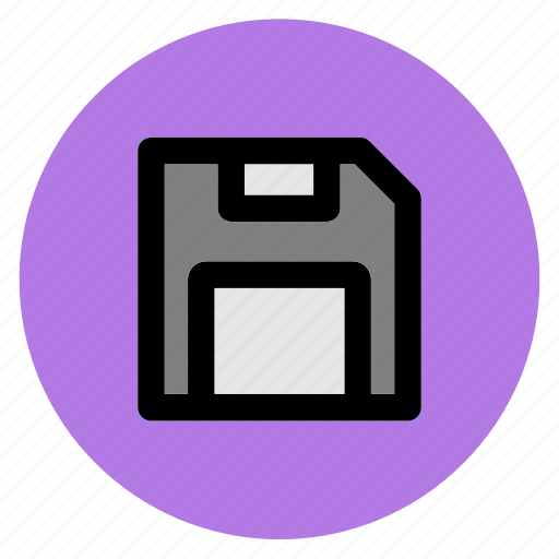 disk, diskette, floppy, guardar, round, save, user interface, web icon