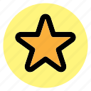 circle, favorite, favourite, round, star, user interface, web icon