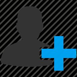 add user, contact, create account, customer, new member, person, profile icon