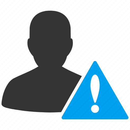 account, avatar, black list, client, contact, customer, danger, human, manager, member, people, person, profile, risk, user, users, warning icon