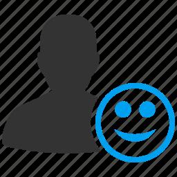 emoticon, emoticons, emotion, happy, smile, success, user status icon