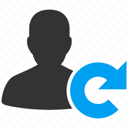 account, avatar, client, contact, customer, exchange, human, man, manager, member, people, person, profile, refresh, reload, renew, replace, rotate, sync, synchronize, update, user, users icon