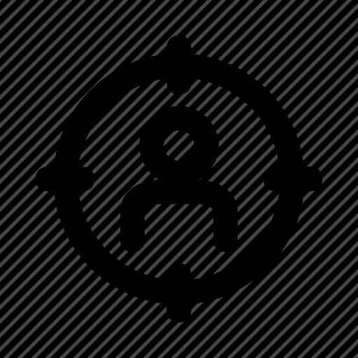 avatar, employee, focus, target, user icon