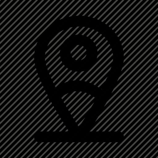 destination, location, map, pin, user icon