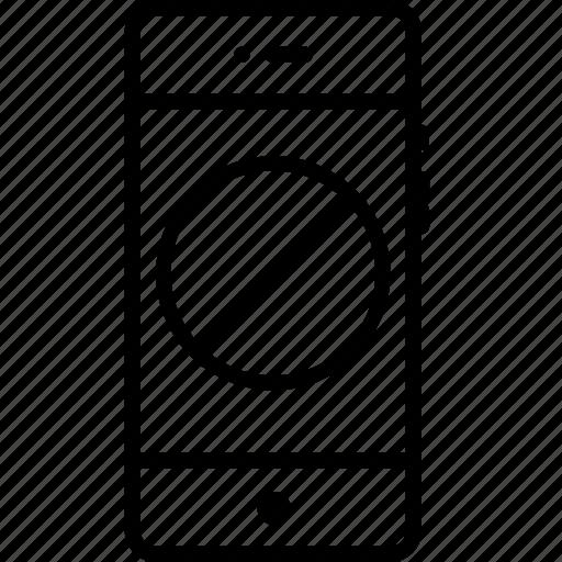 circle, denied, mobile, notice, remove, round icon