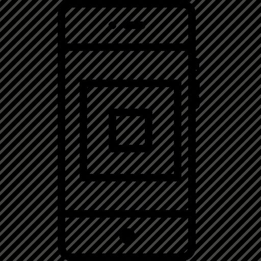 architechture, design, mobile, shape, square icon
