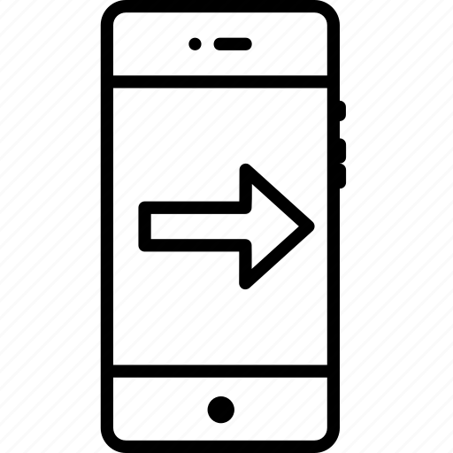 arrow, direction, forward, mobile, next, right, way icon