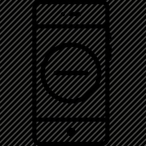 delete, interface, minus, mobile, remove, round, ui icon