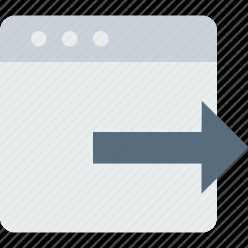 arrow, document, export, file, import, right, window icon