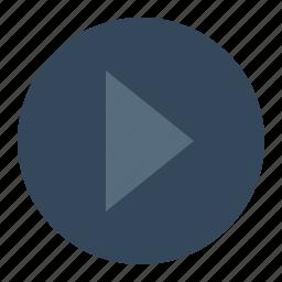 forward, next, play, replay, round icon