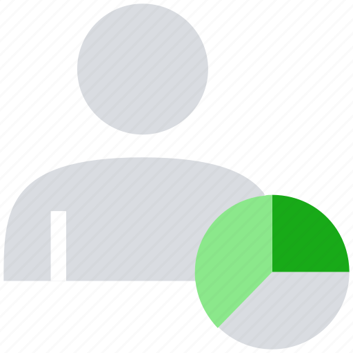 graph, male, people, person, pie chart, user icon