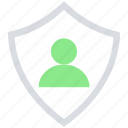male, people, person, secure, shield, user