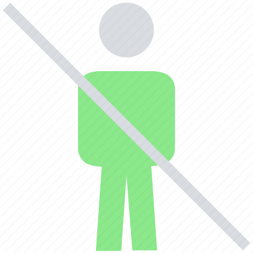 ban, male, people, person, profile, stand, user icon