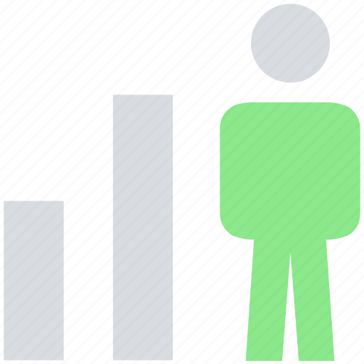 analytic, graph, male, people, person, transaction, user icon