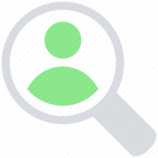 find, magnifier glass, male, person, searching, user icon