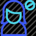 avatar, block, female, profile, user, woman icon