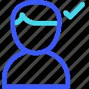 approve, avatar, male, user icon