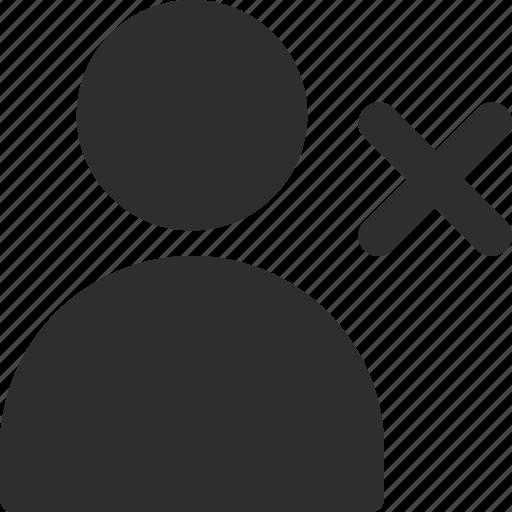 delete, person, profile, user icon