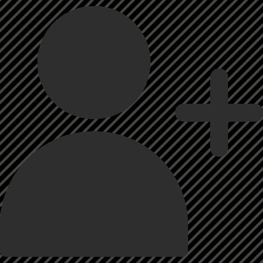 add, avatar, profile, user icon